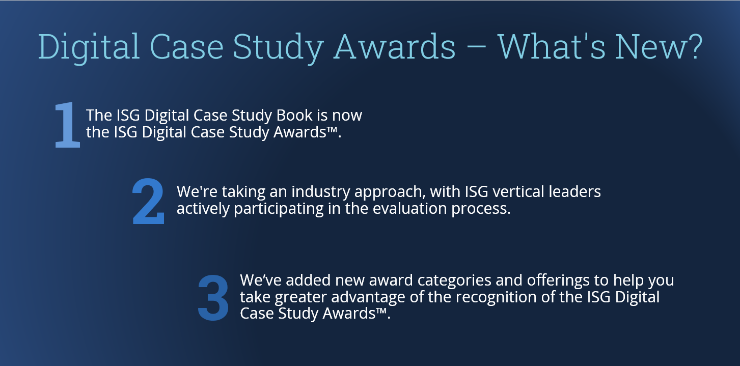 Digital Case Study Awards – What's New?