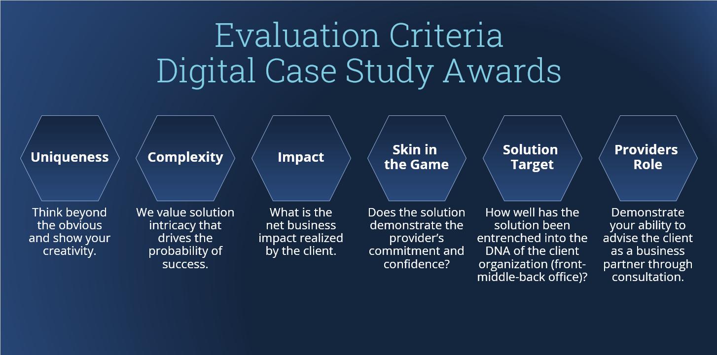Evaluation Criteria Digital Case Study Awards