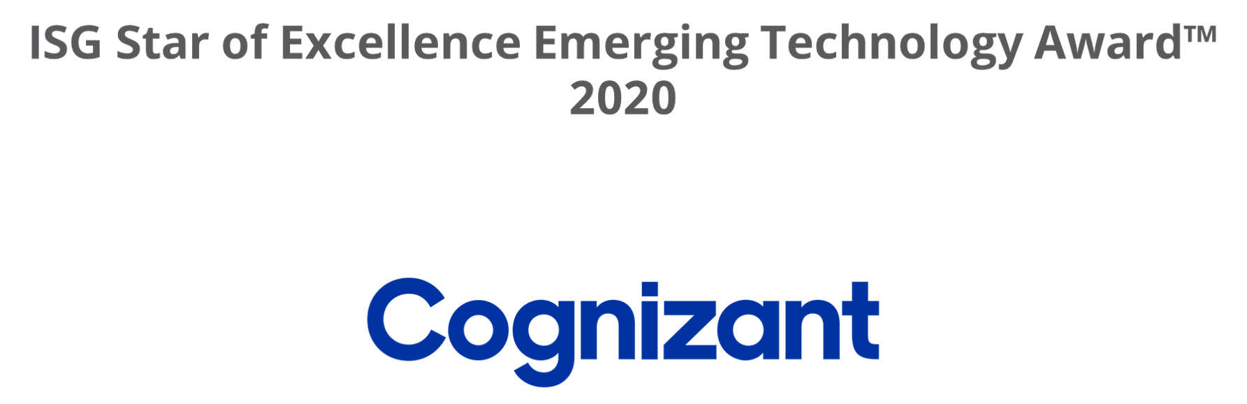 Emerging Technology Award-2020