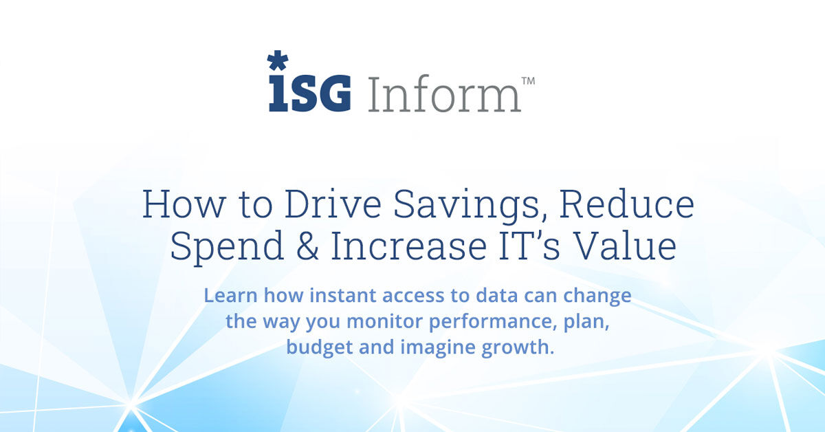 InformX     Webinar How to Drive Savings