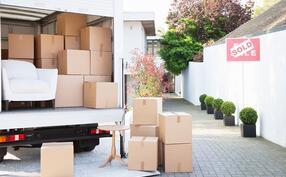 Boxes Moving Van