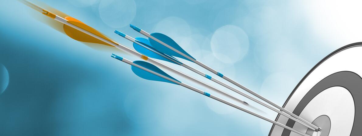 iStock-485656558 arrows in target